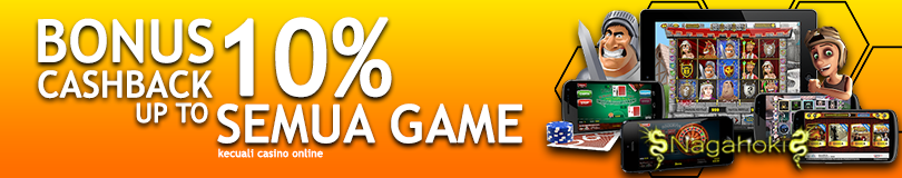 BONUS CASHBACK ALL GAME 10%